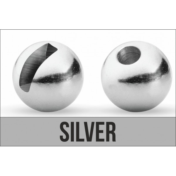 Tungsten Beads - Slotted / Silver