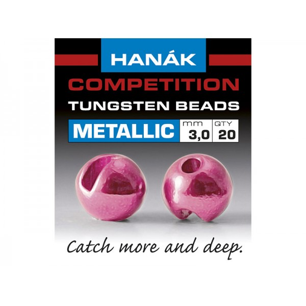 Tungsten Beads Metallic+ - Ružová